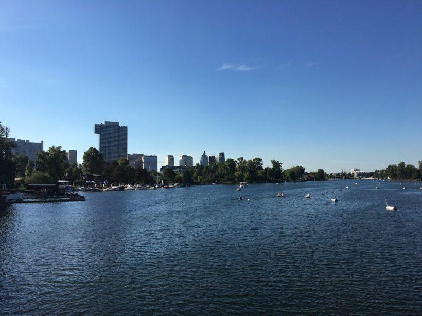 Blick auf die Alte Donau