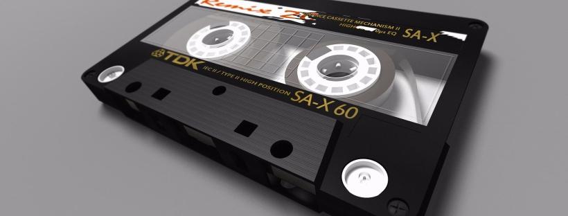 Eine Musikkassette als Urform der Playlist