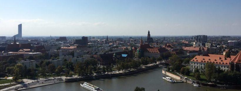 Blick über Breslau vom Breslauer Dom aus